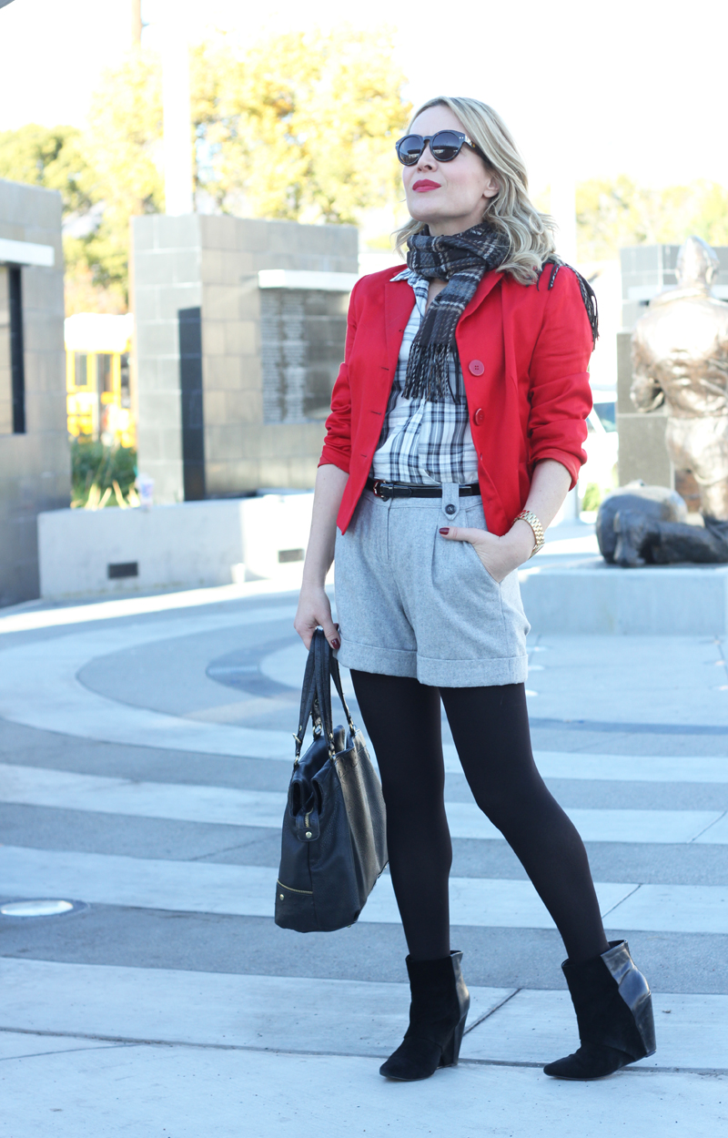 RED GREY PLAID 4