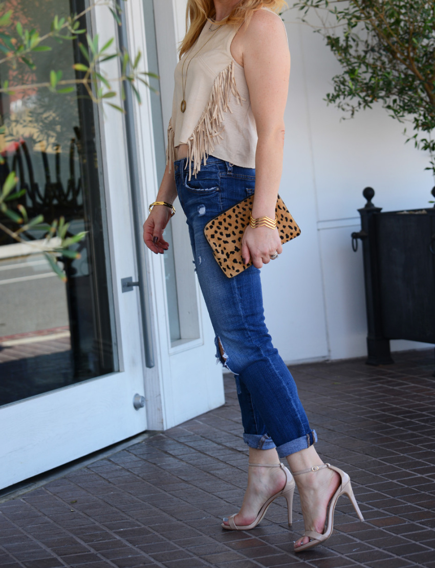 fringe denim 7