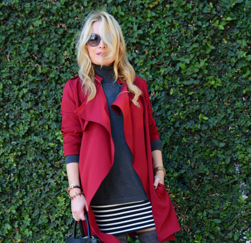 red trench coat 7