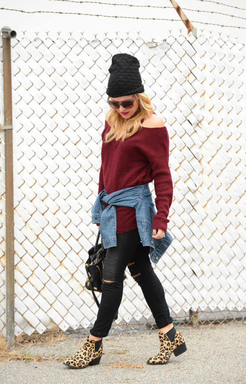 cold shoulder sweater 2