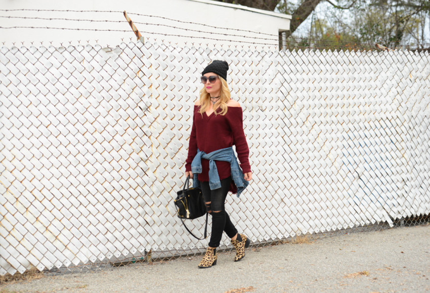 cold shoulder sweater 3