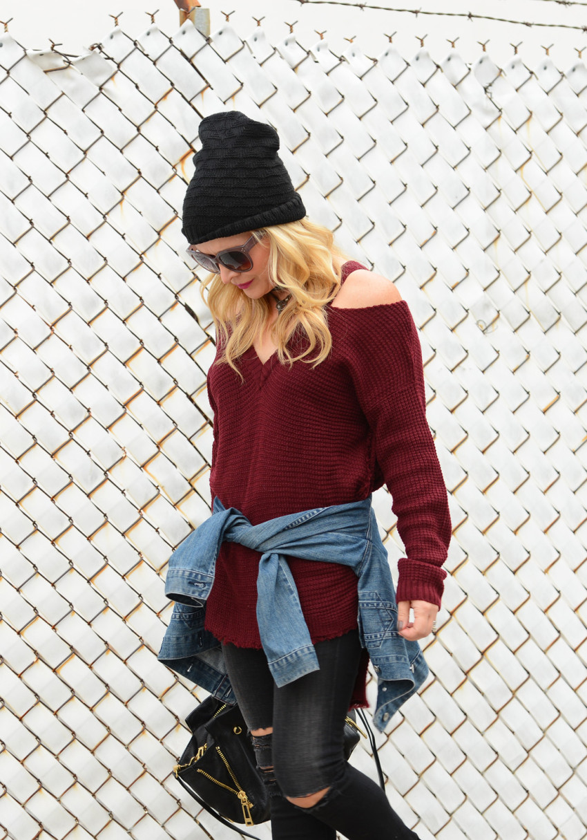 cold shoulder sweater 4