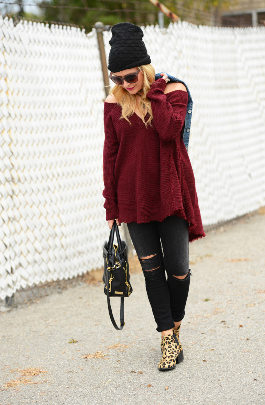 cold shoulder sweater 5