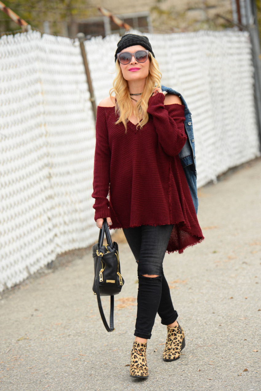cold shoulder sweater 6