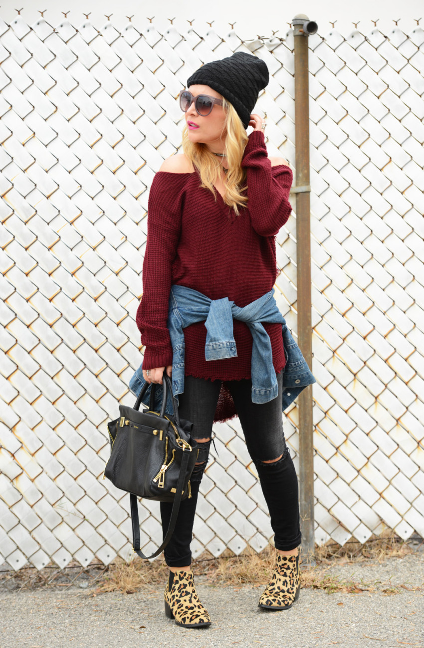 cold shoulder sweater 8