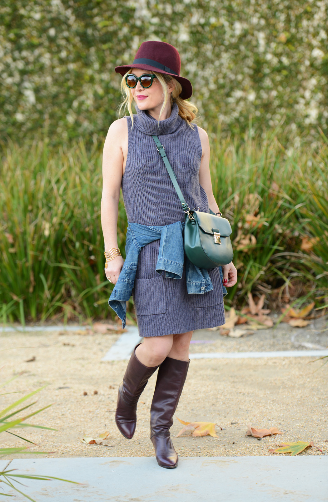 Knitting Wear 2016 : Knit dress vintage boots the hunter collector