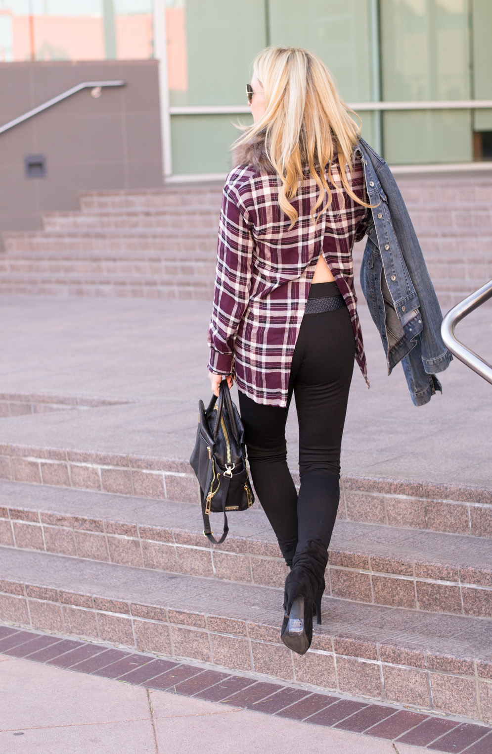Plaid Shirt Pleather Leggings The Hunter Collector