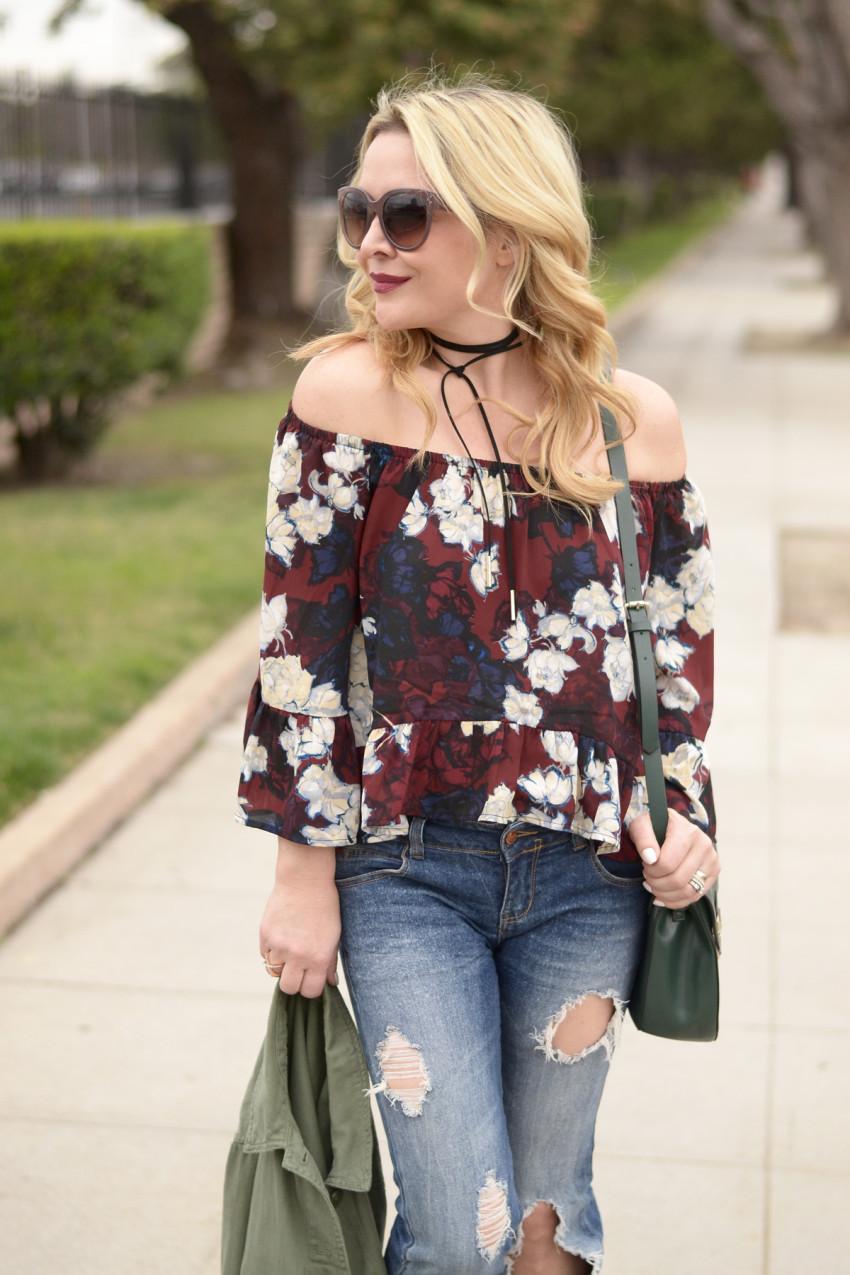 off shoulder floral 1