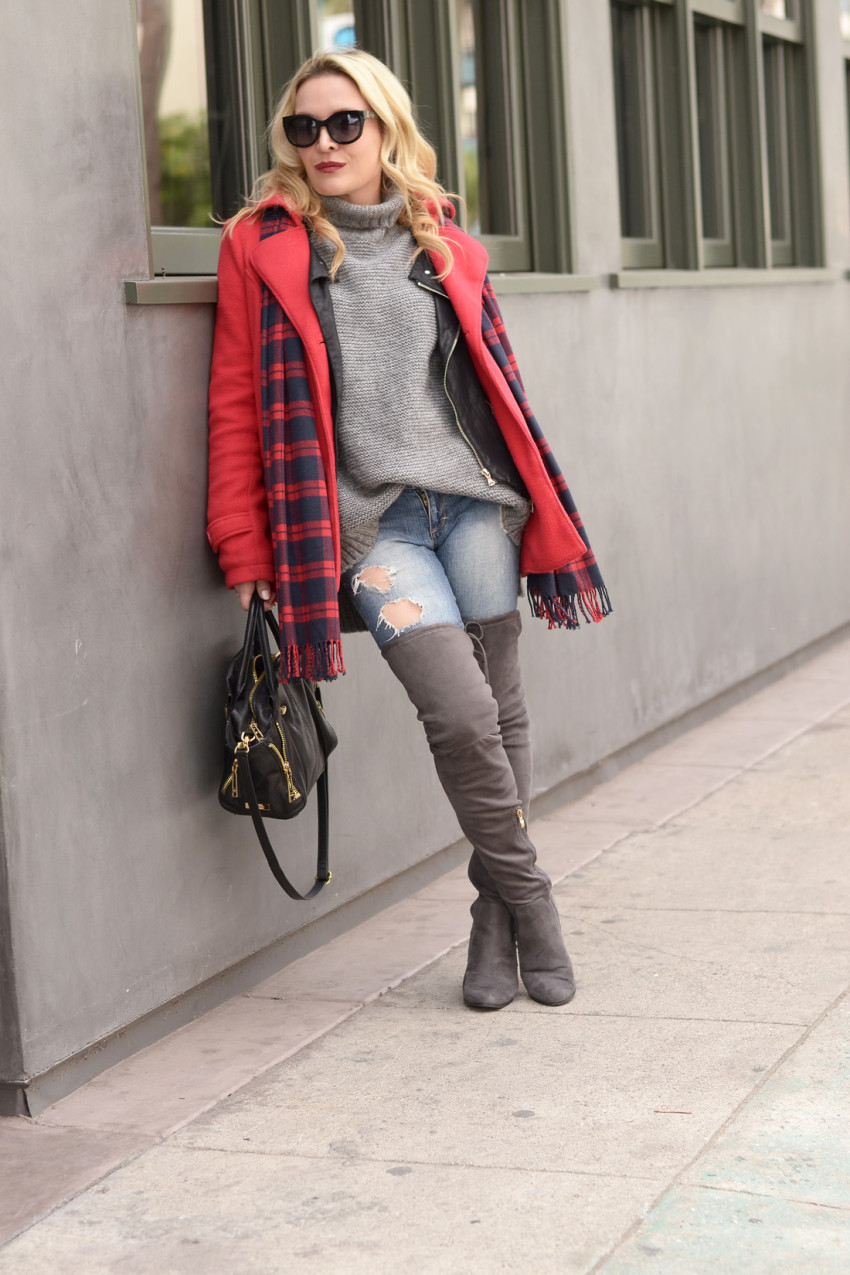 plaid and layers 6