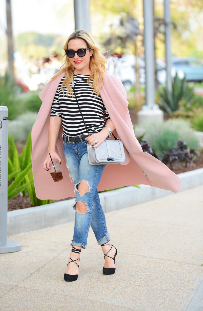 Pink trench coat 2
