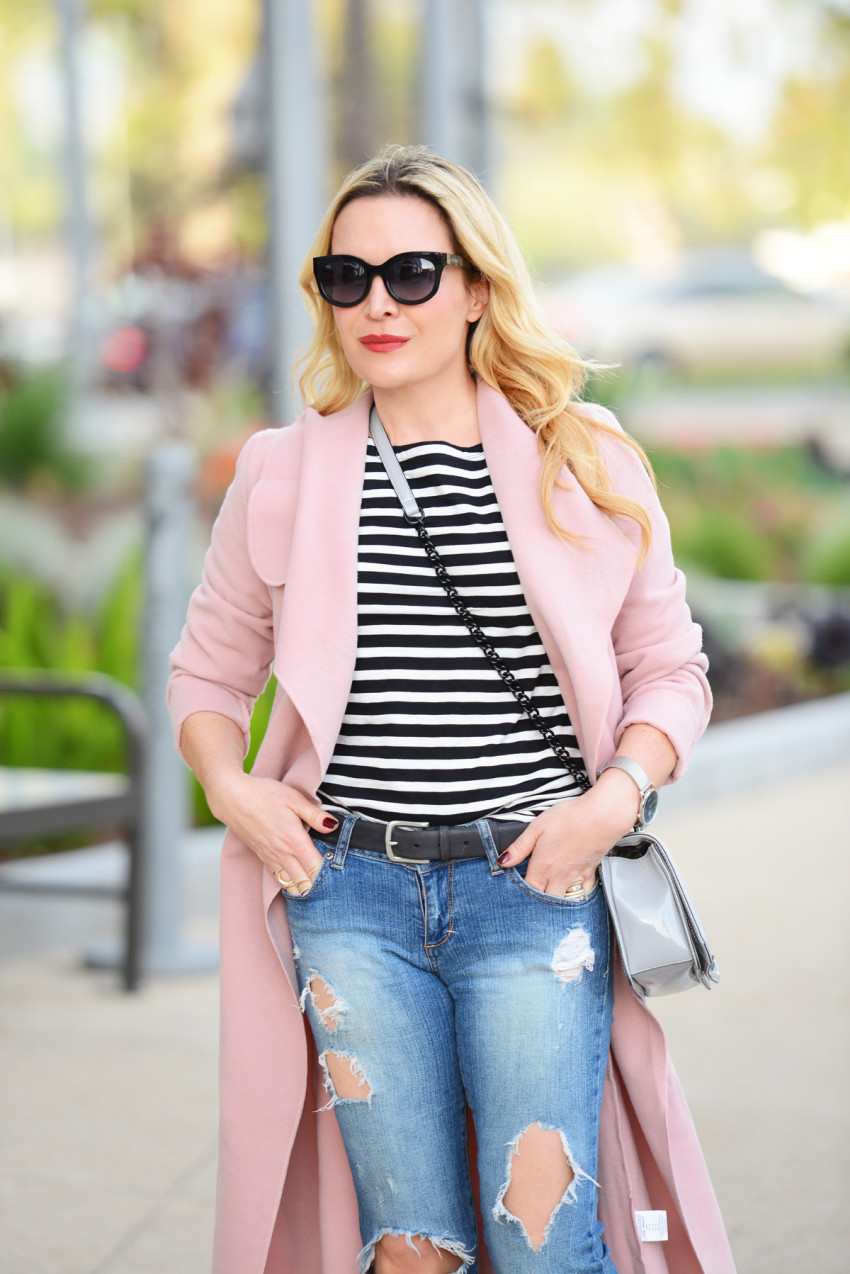 Pink trench coat 4