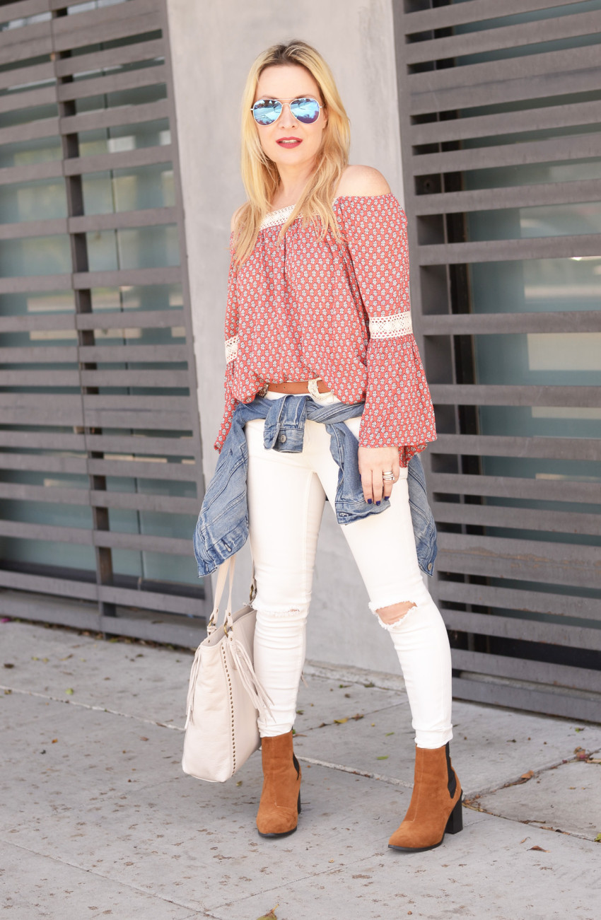 off shoulder print top 4