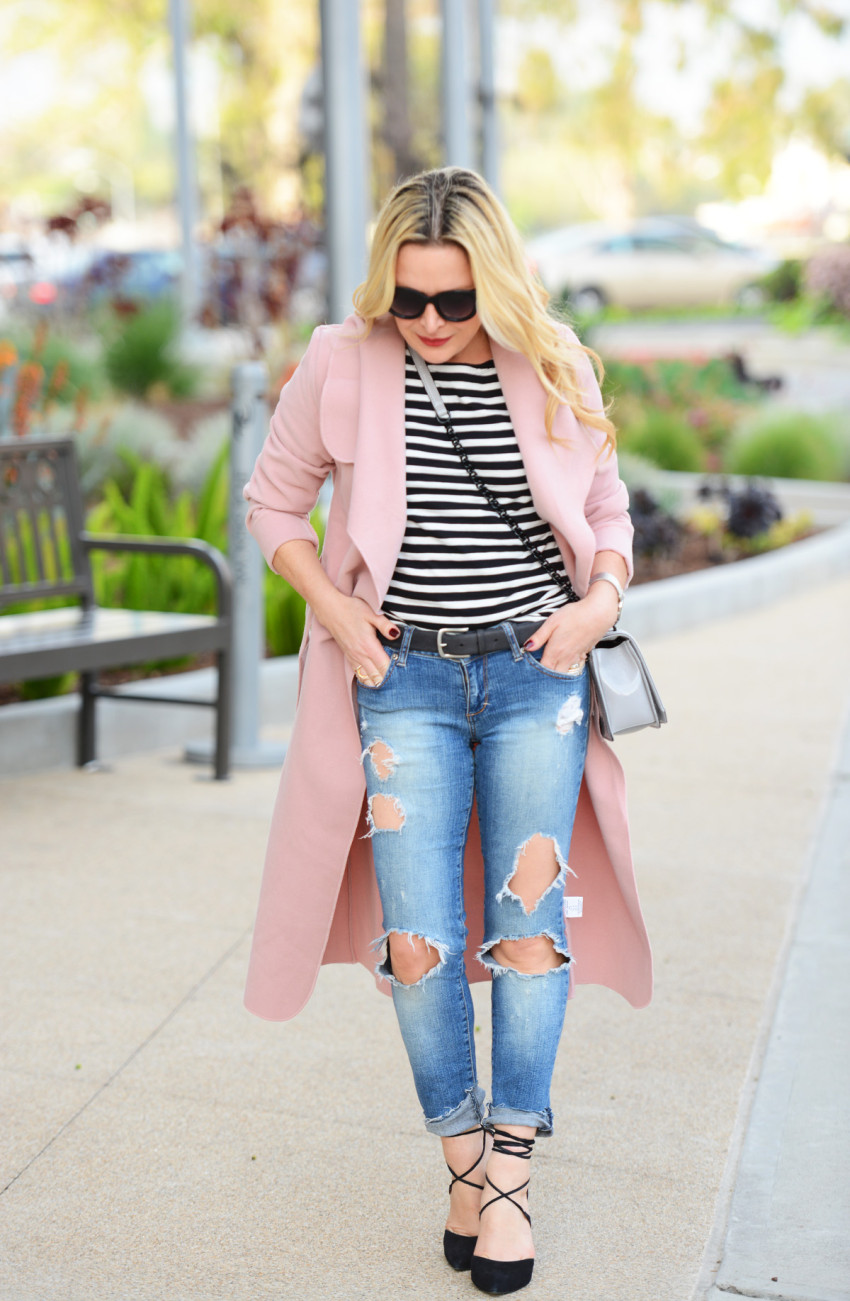 pink trench coat 3