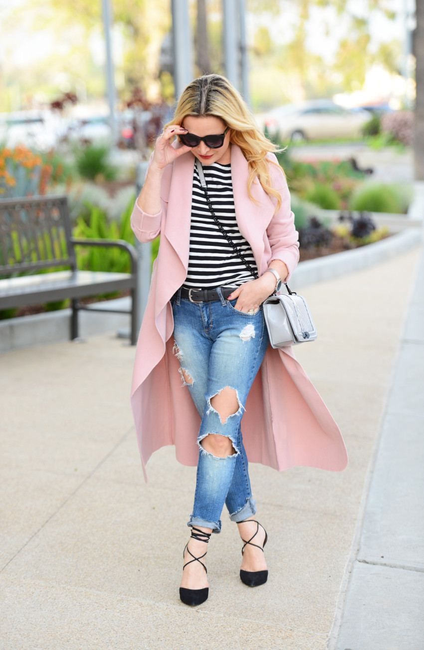 pink trench coat 5