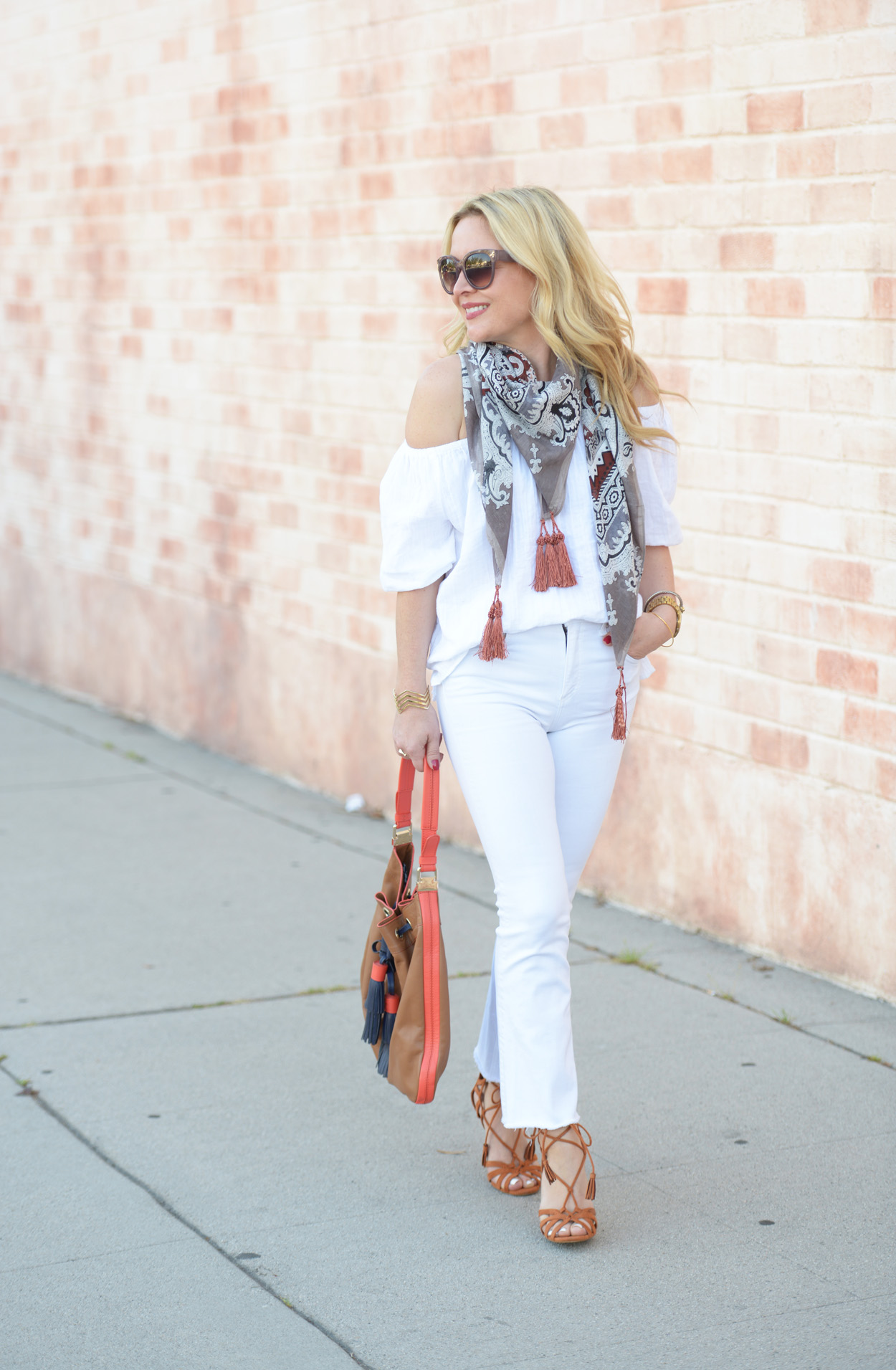 All White, Cropped Flares. | The Hunter Collector