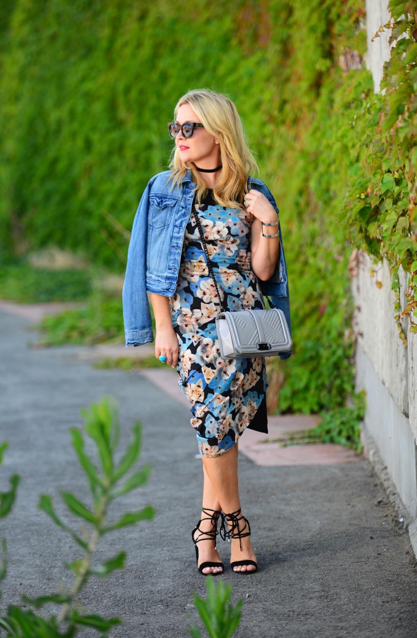 blue floral dress 1