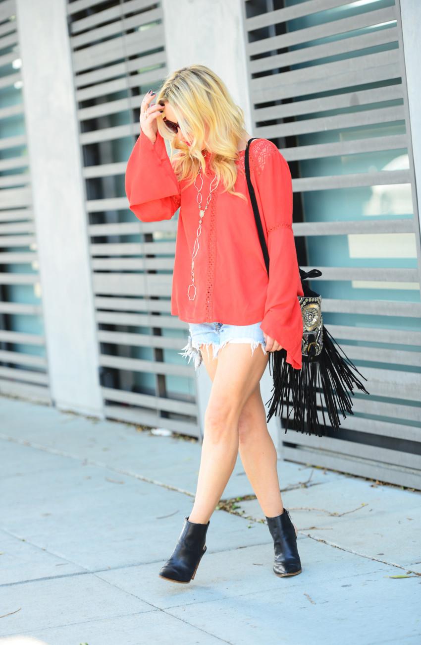 orange bell sleeves 3