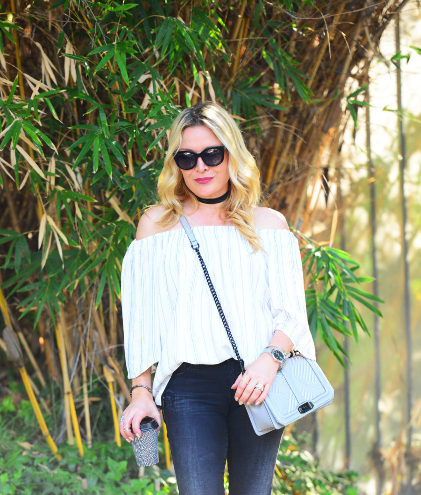 striped off shoulder top 5