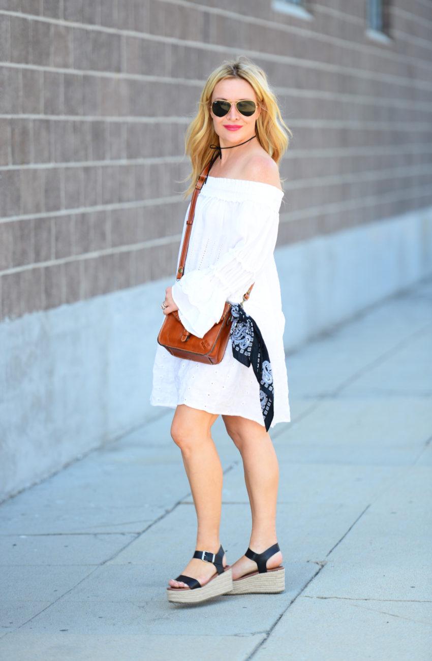 white eyelet dress 1