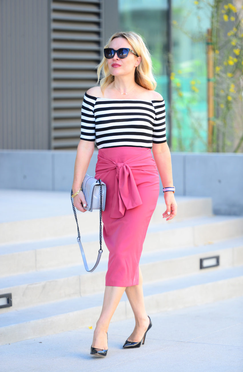 pink pencil skirt 1