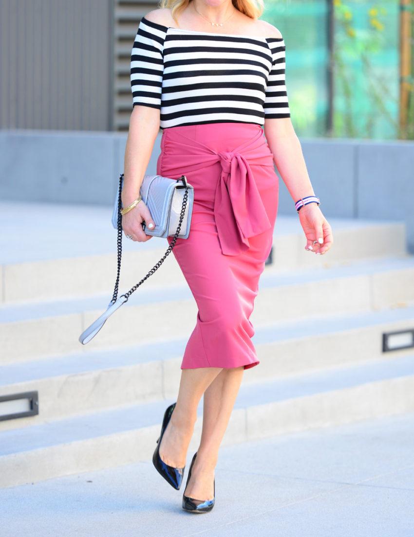 pink pencil skirt 2