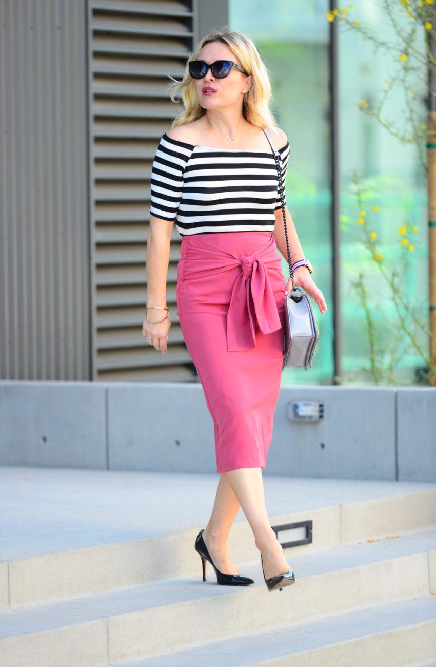 pink pencil skirt 3