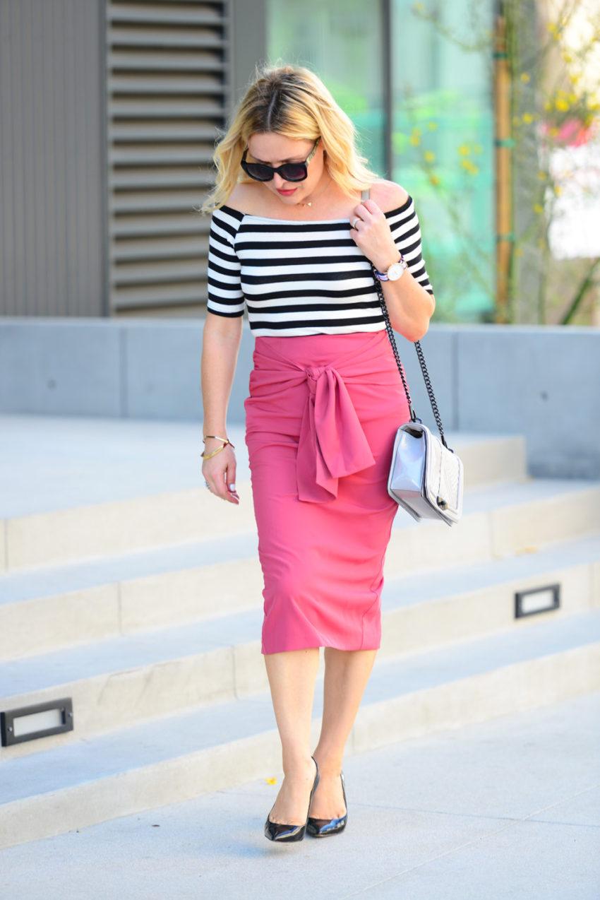 pink pencil skirt 4