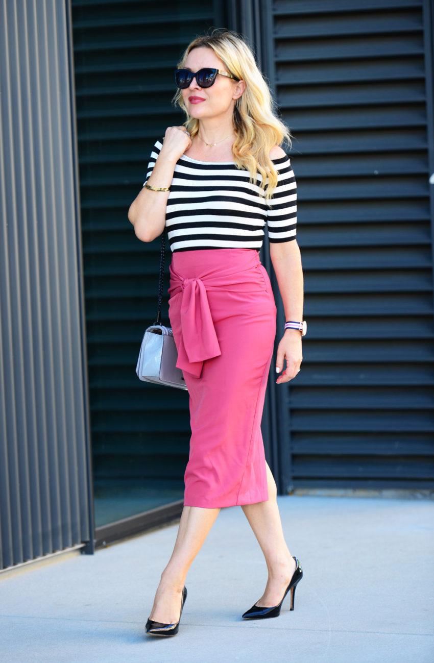 pink pencil skirt 6