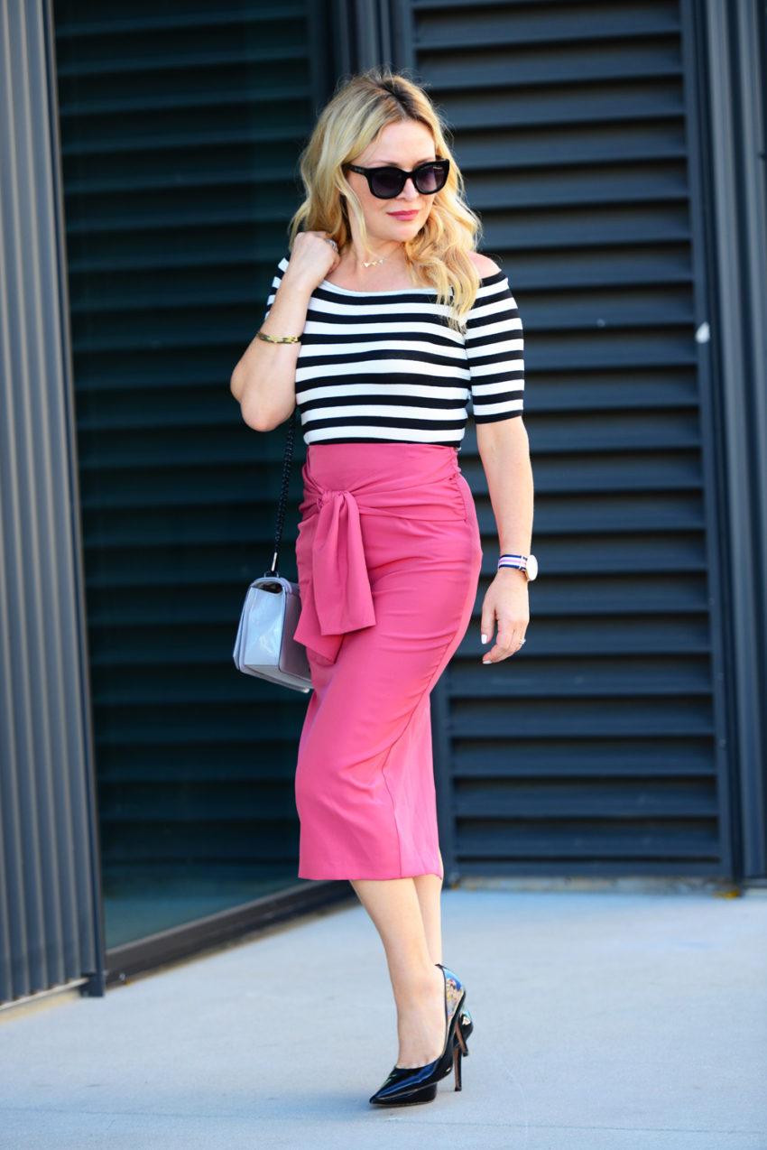 pink pencil skirt 8