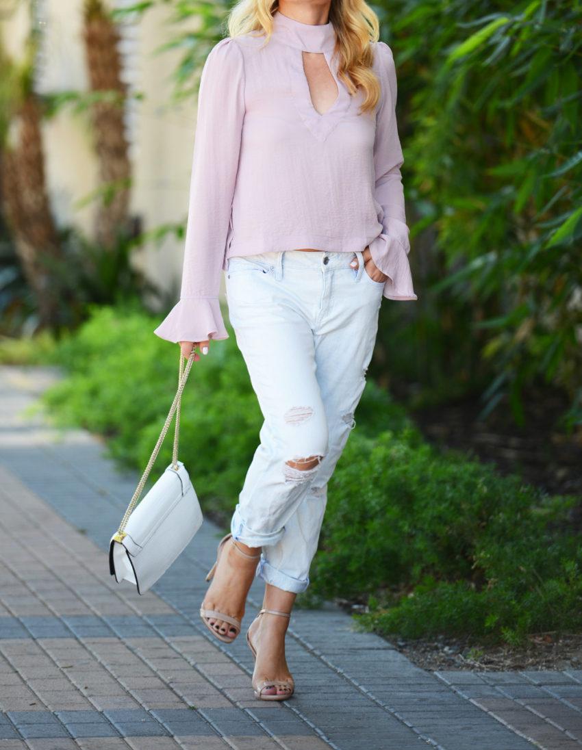 pink top boyfriend jeans 8