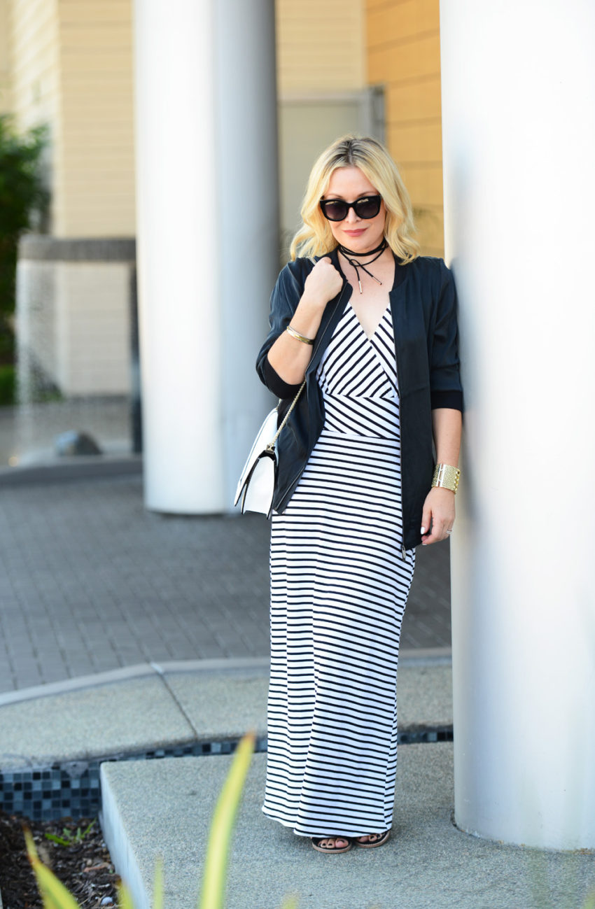 striped maxi silk bomber 4