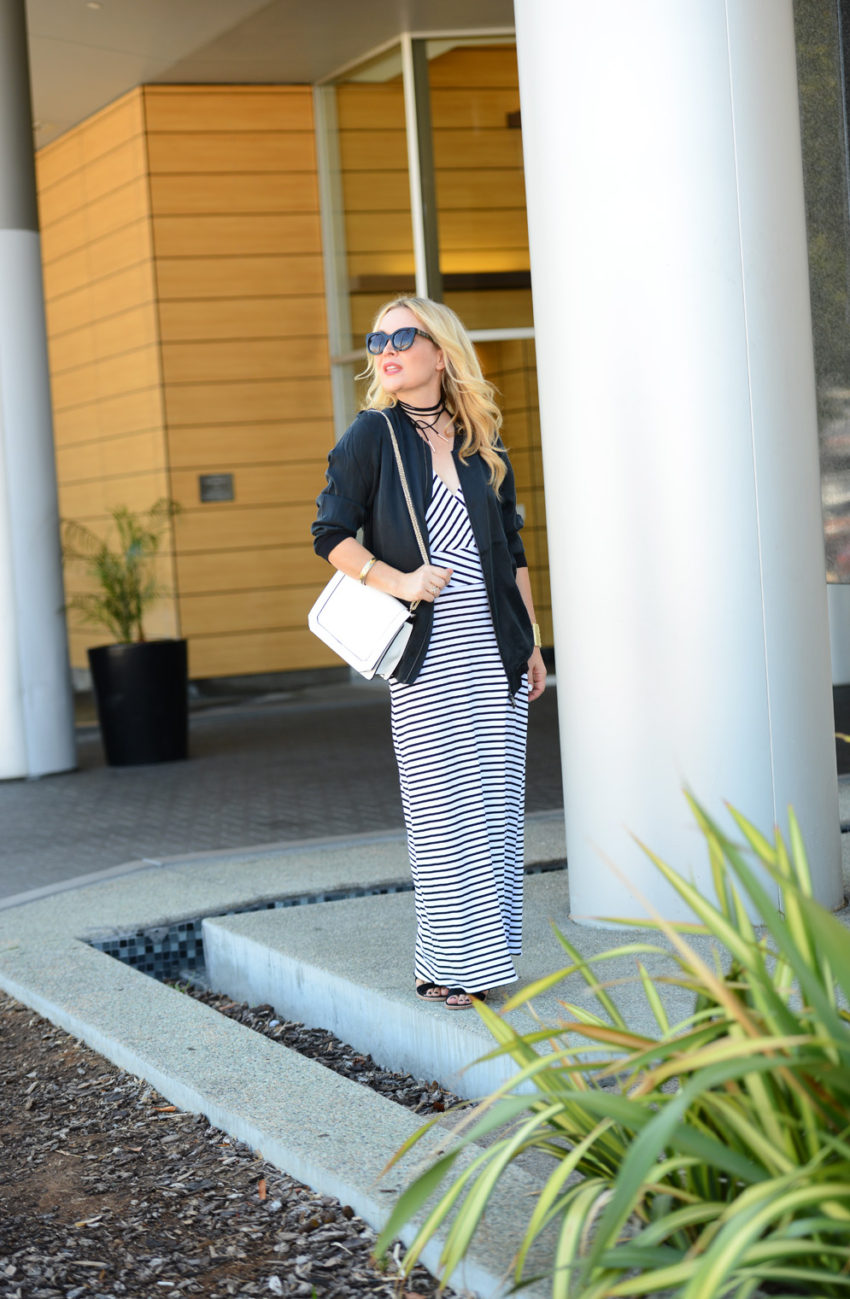 striped maxi silk bomber 5