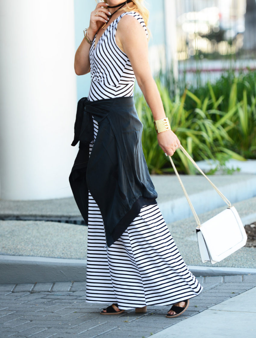 striped maxi silk bomber 8