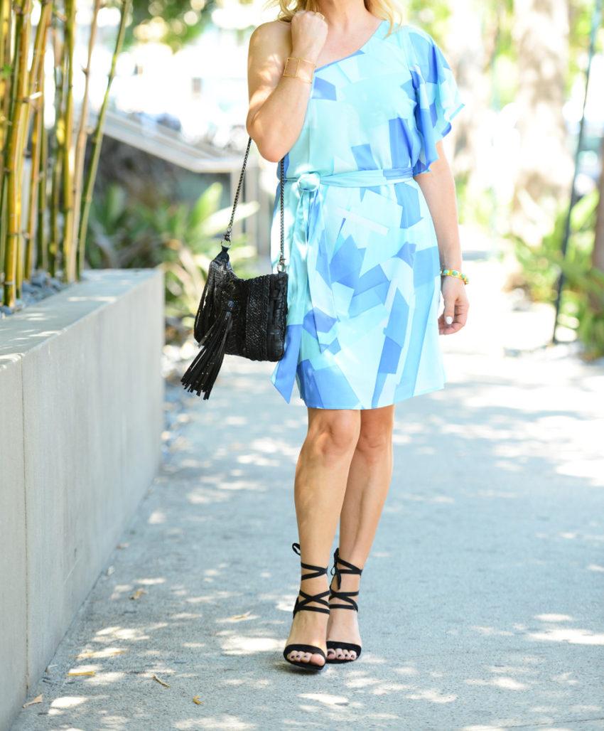 blue one shoulder dress 3