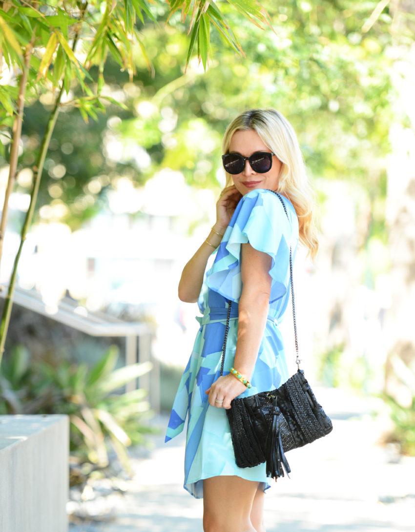 blue one shoulder dress 5