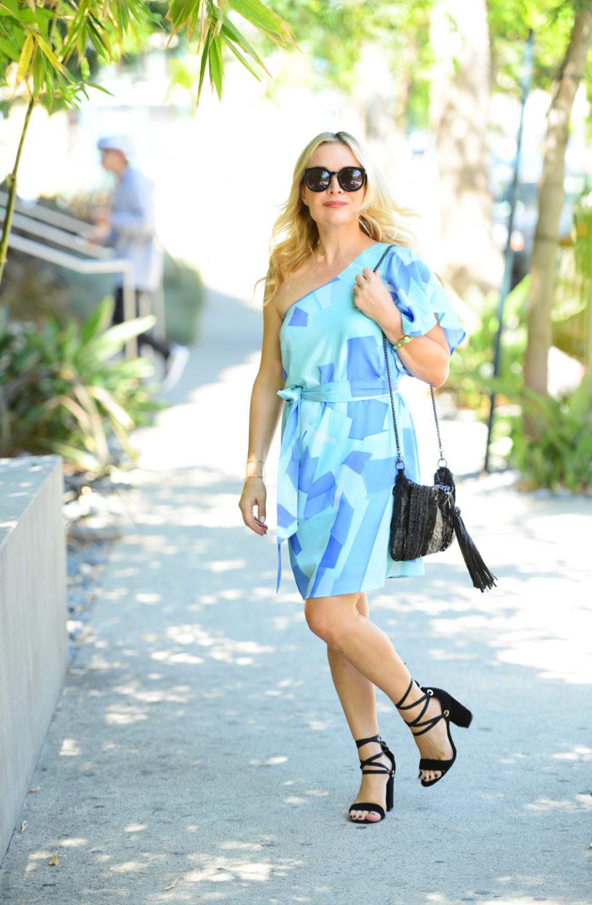 blue one shoulder dress 7