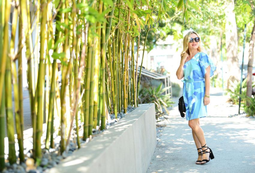 blue one shoulder dress 8