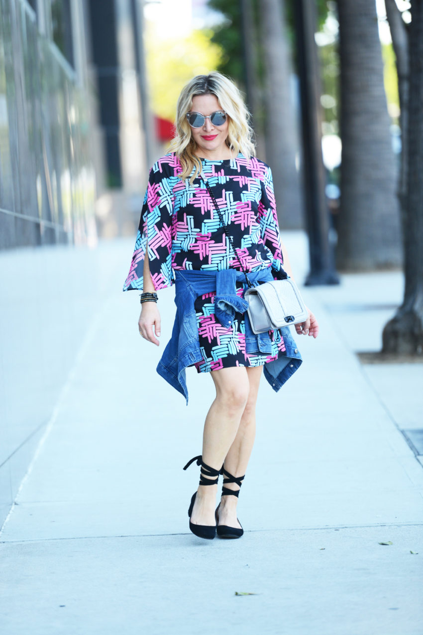 print-dress-lace-up-flats-2
