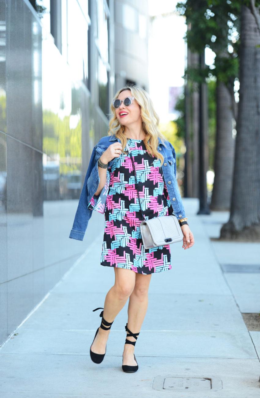 print-dress-lace-up-flats-4