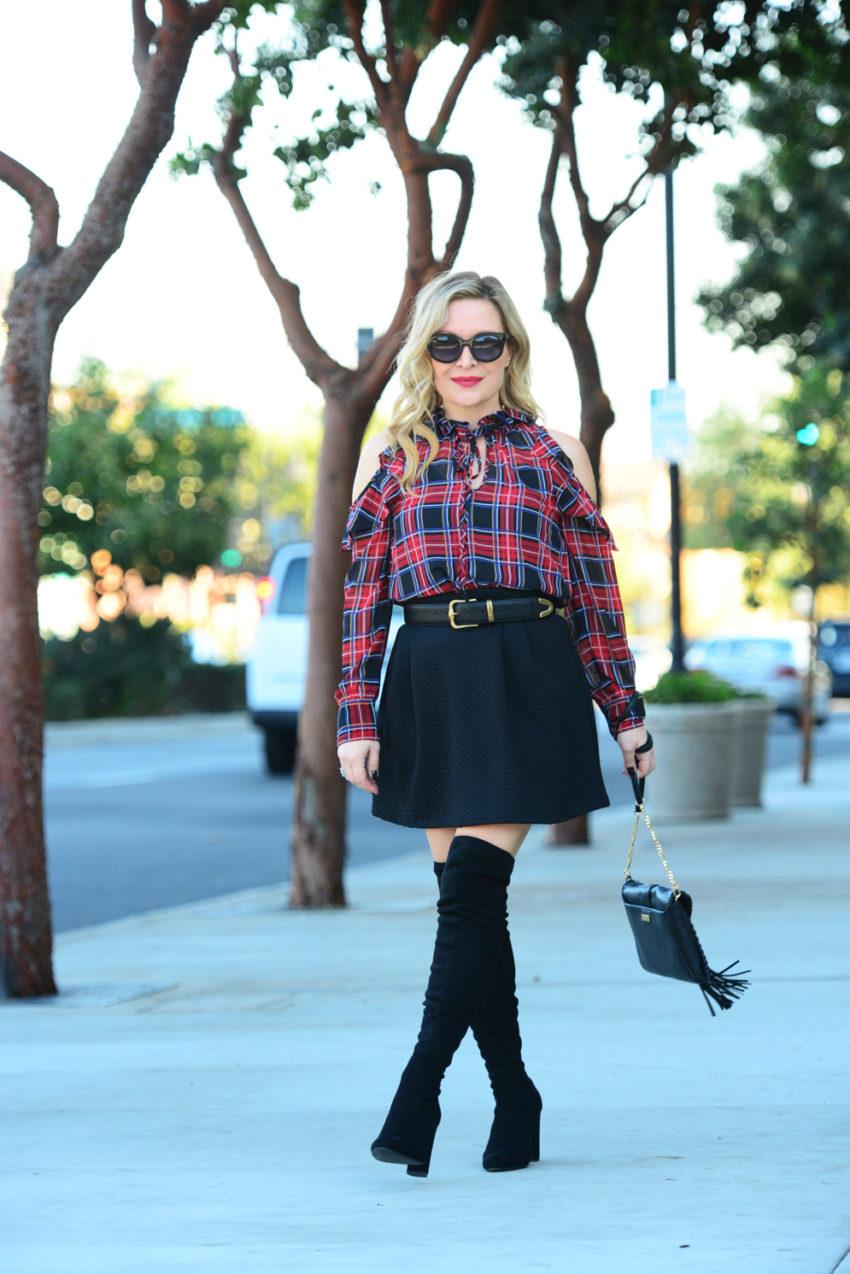 plaid-top-black-skirt-1
