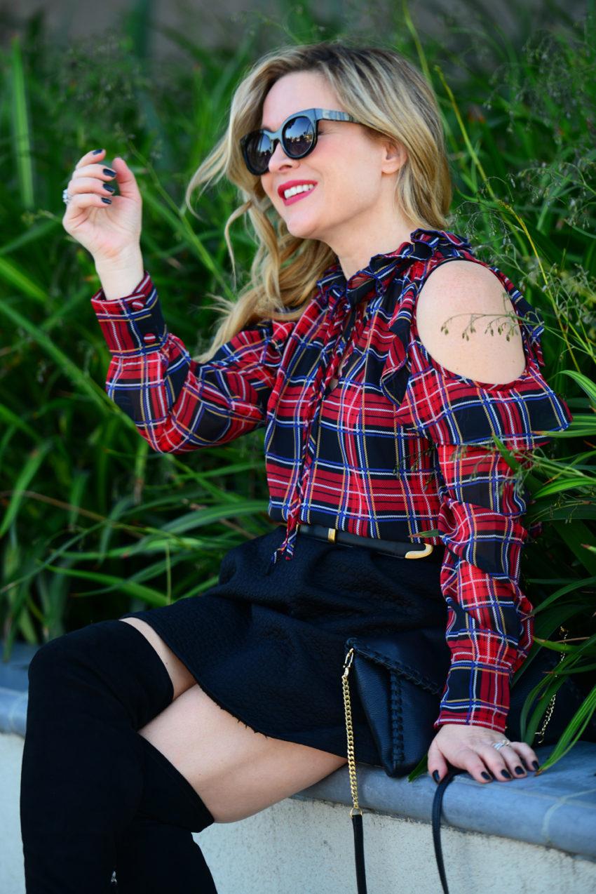 plaid-top-black-skirt-7