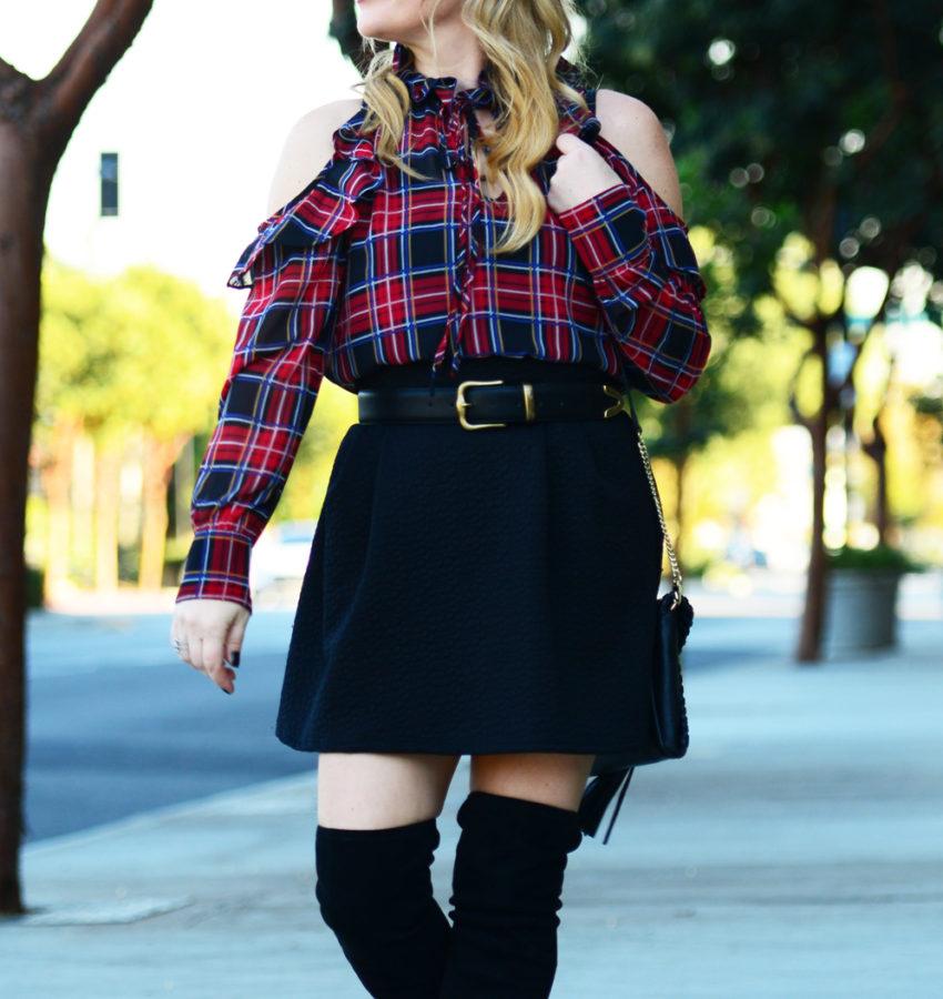 plaid-top-black-skirt-9