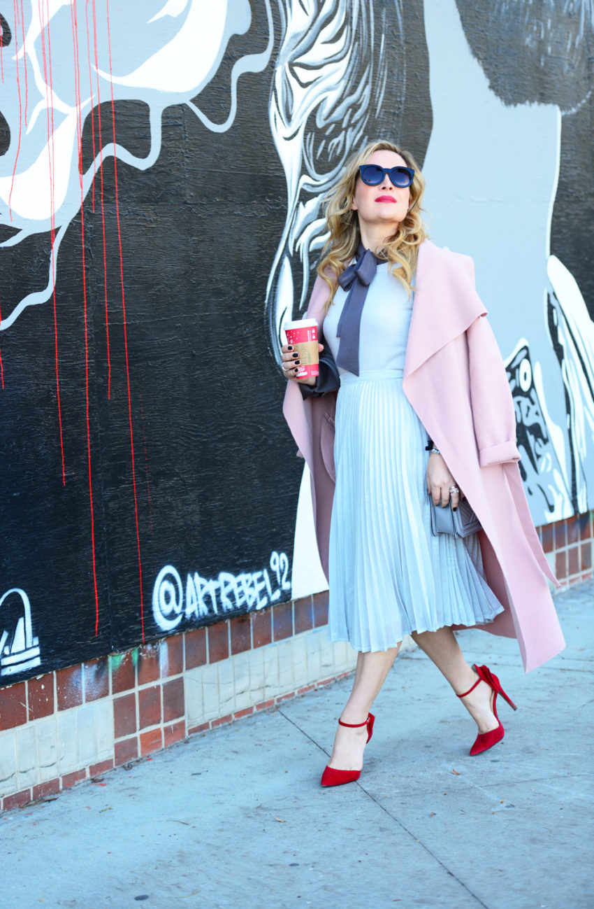 silver-skirt-pink-coat-2