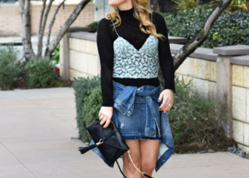 Lace Cami Layers, Double Denim.