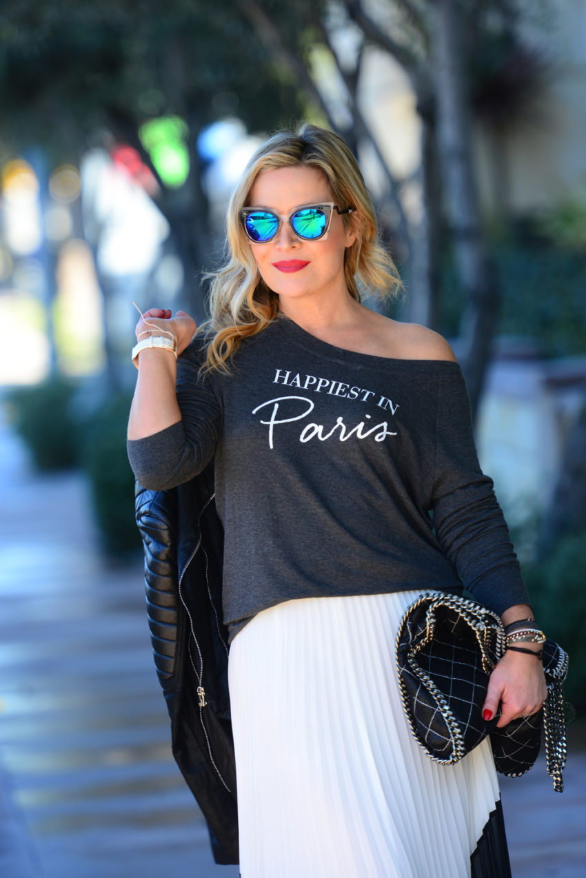 paris tee white skirt 6