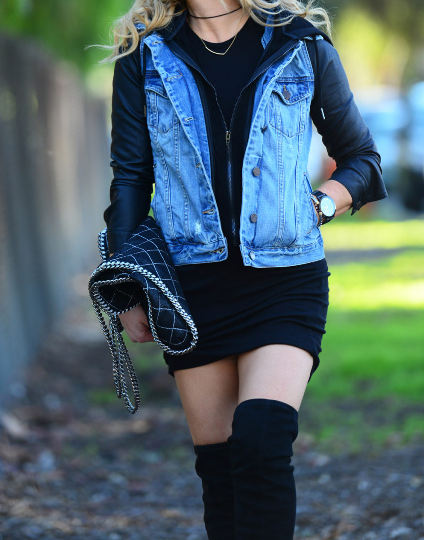 denim & faux leather 2