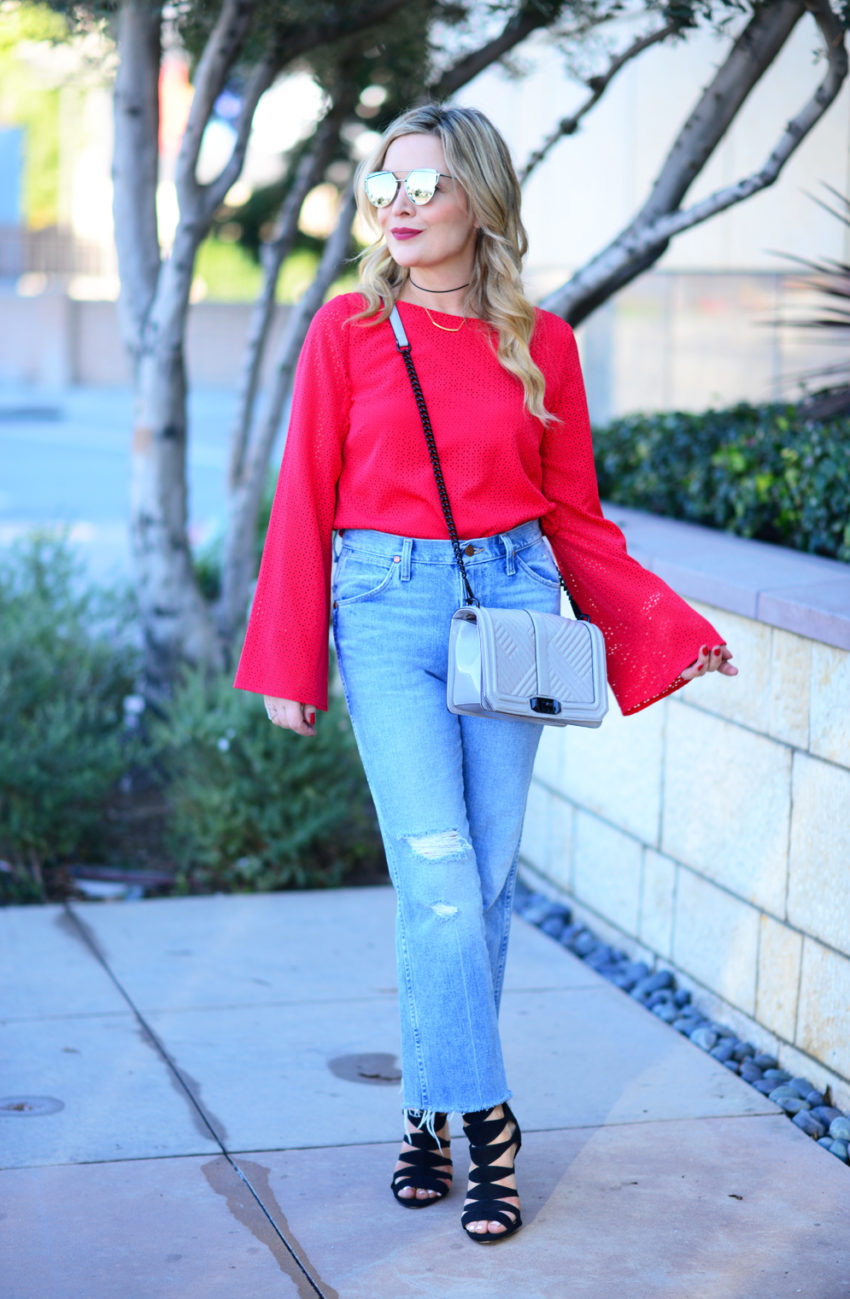 red sleeves high waist 1