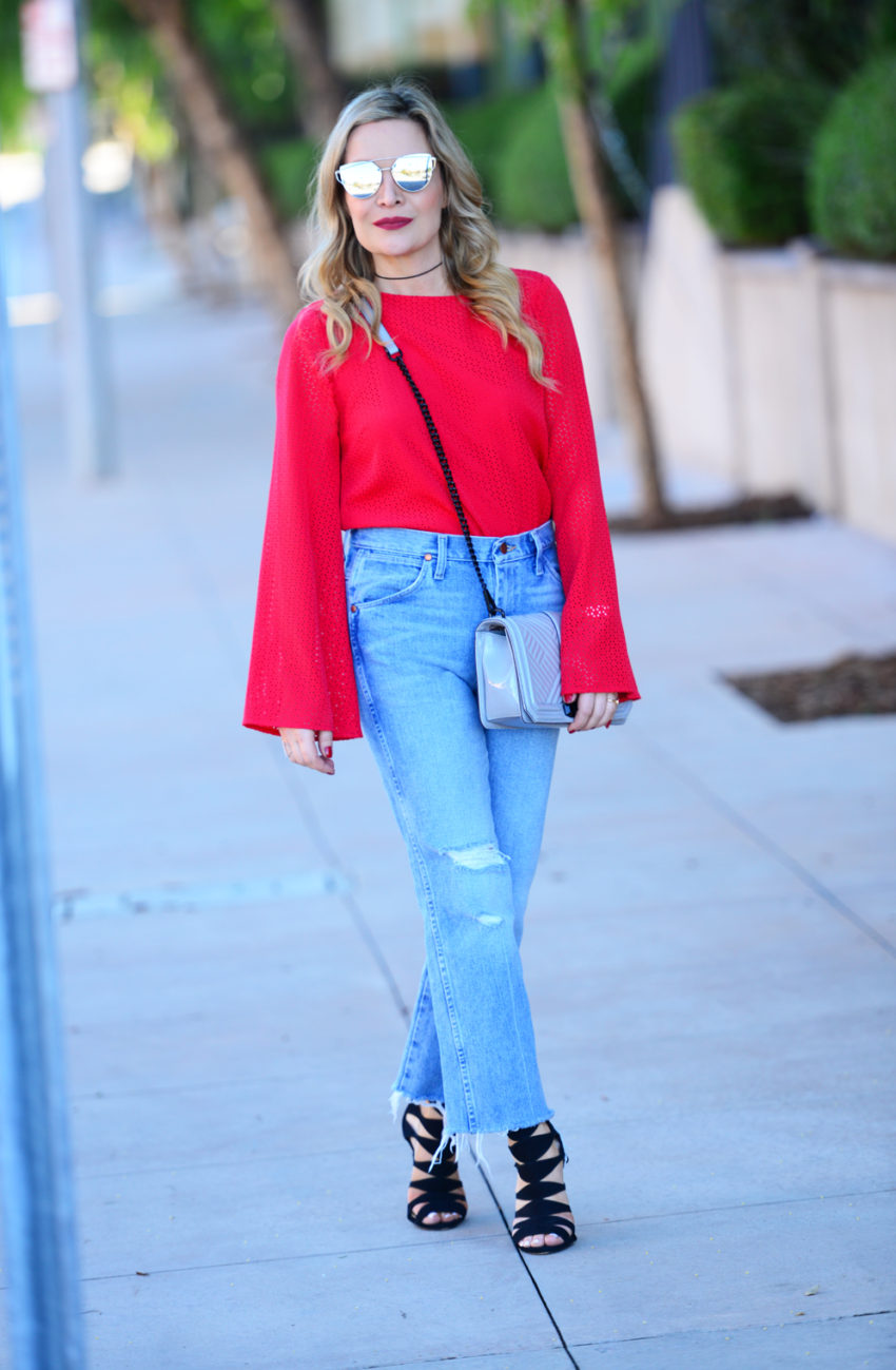 red sleeves high waist 2