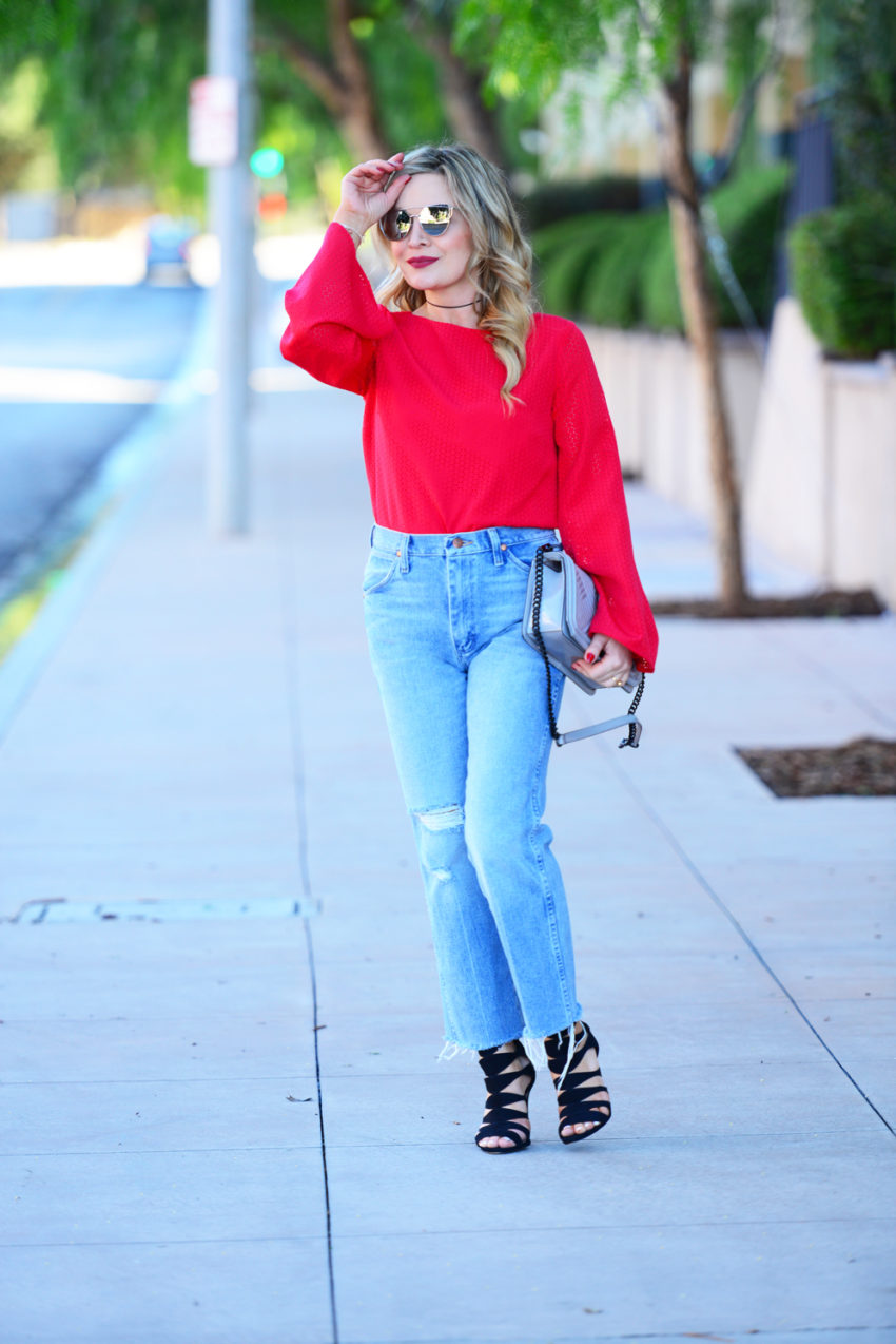 red sleeves high waist 5