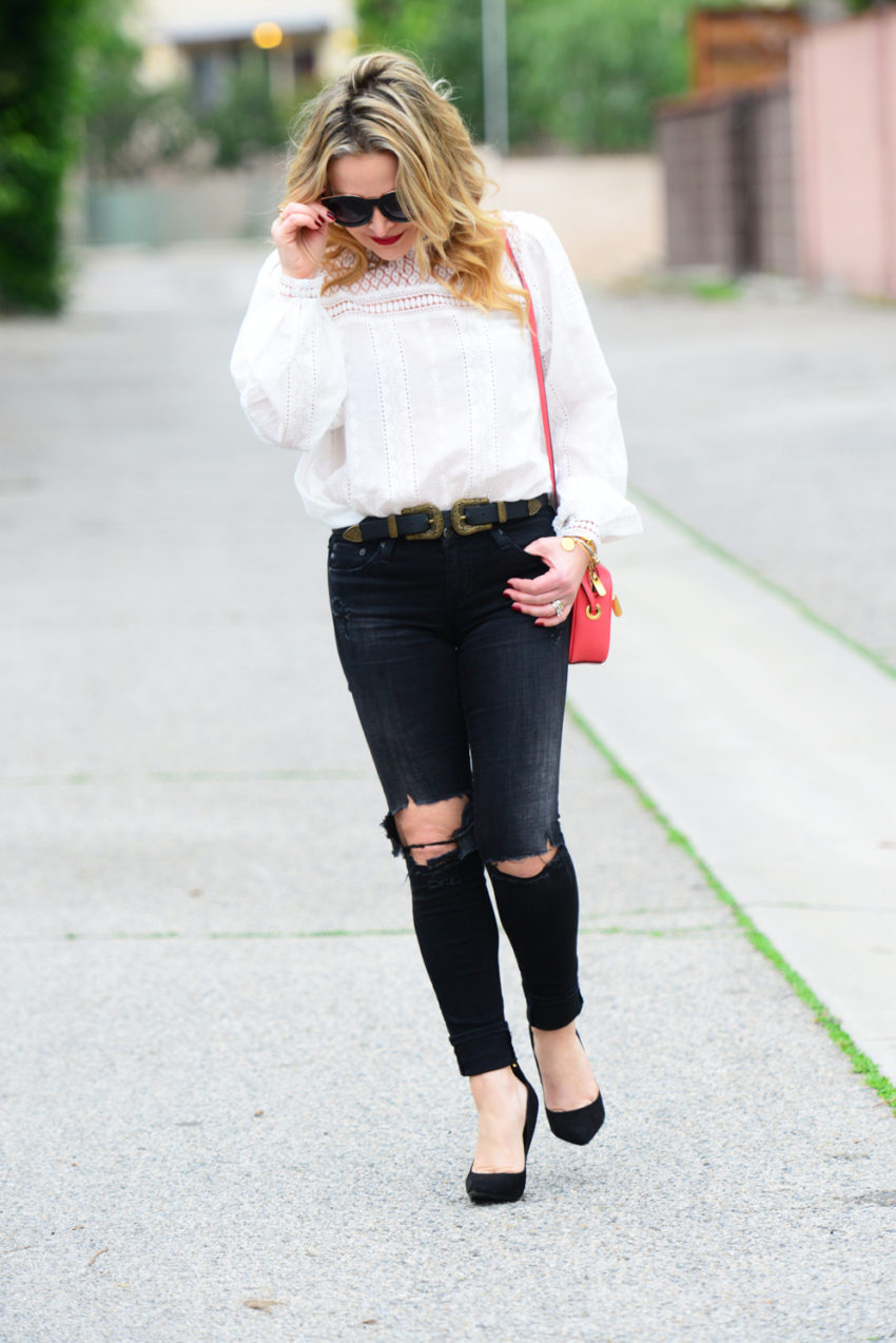 victorian blouse ripped denim 3